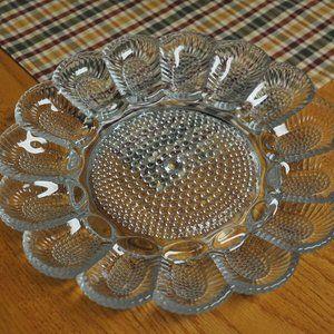 Vintage Hobnail Deviled Egg Platter